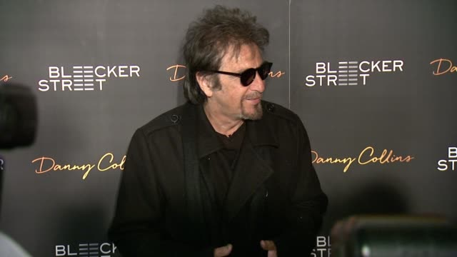 clean new york premiere of bleeker street's danny collins at amc lincoln square theater on march 18 2015 in new york city - al pacino stock videos & royalty-free footage