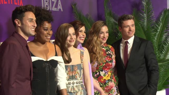chyron – new york preview screening of netflix's film ibiza at amc loews lincoln square on may 21 2018 in new york city - amc loews stock videos and b-roll footage