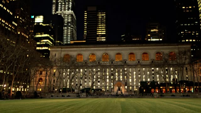 new york public library. bryant park - bryant park stock videos and b-roll footage
