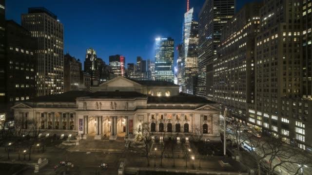 New York Public Library Twilight Time Lapse