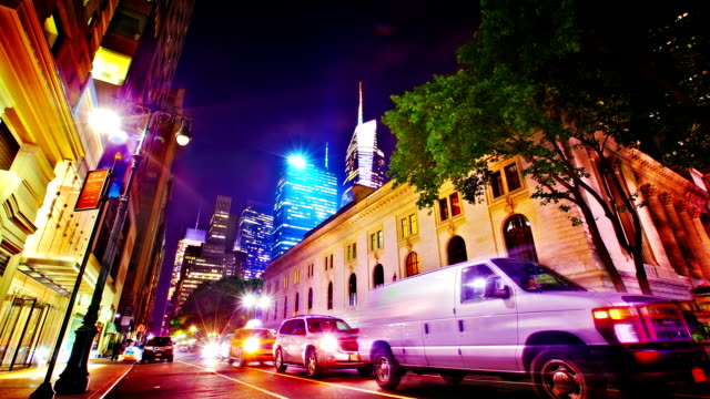 new york public library - bryant park stock videos & royalty-free footage