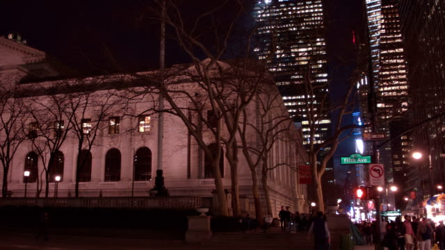 new york public library - circa 5th century stock videos & royalty-free footage