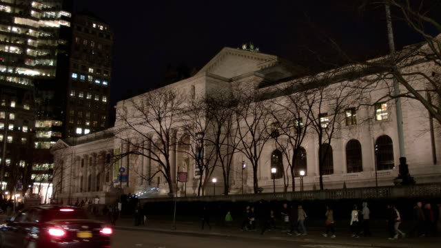 new york public library - bryant park stock videos and b-roll footage