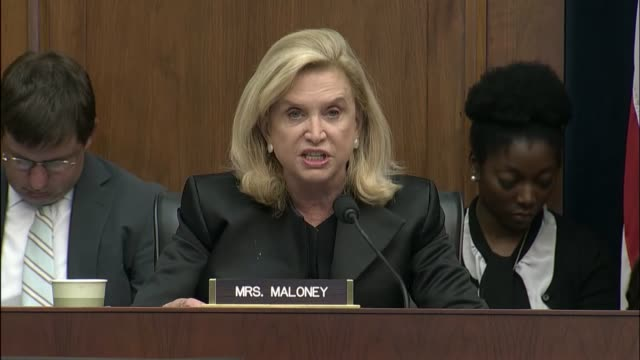 new york representative carolyn maloney questions former equifax ceo richard smith at an oversight hearing of the house financial services committee... - data breach stock videos and b-roll footage
