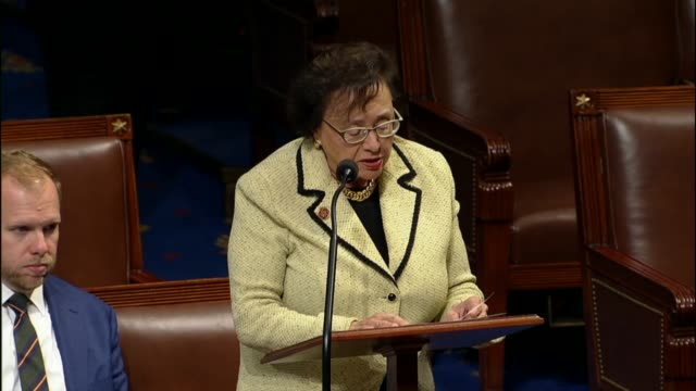 stockvideo's en b-roll-footage met new york representative nita lowey criticizes a third fiscal 2018 continuing resolution as an epic failure of governing three months into the fiscal... - afhankelijkheid