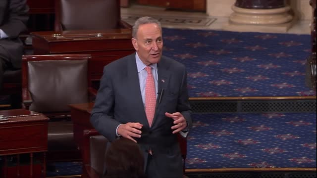 New York Senator Charles Schumer responds to a criticism of Senate Republicans that Democrats in the upper body obstructed an appropriations bill...