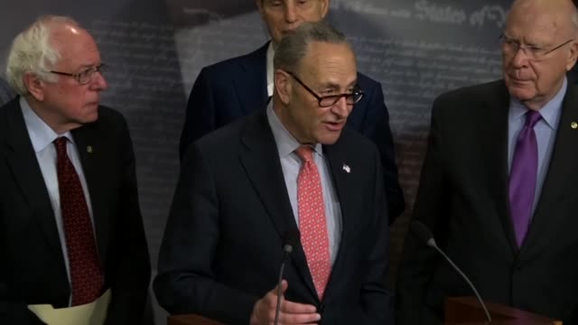 New York Senator Charles Schumer says at a news conference that he spoke with President Donald Trump a week after the election about infrastructure...