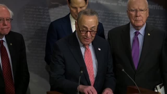 New York Senator Charles Schumer says at a news conference that rather than cutting existing infrastructure projects to pay for poultry programs...