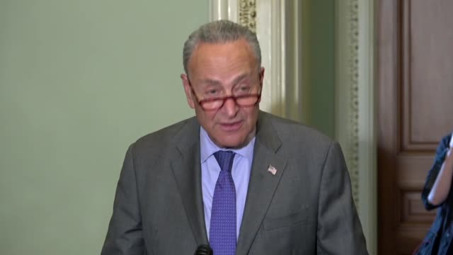 New York Senator Charles Schumer tells reporters after meeting Judge Brett Kavanaugh that he repeatedly asked Kavanaugh if the Affordable Care Act...
