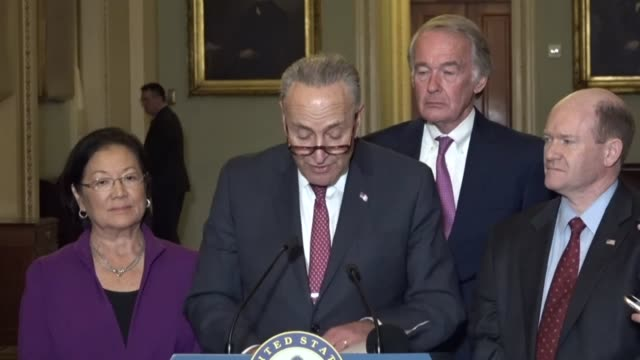 New York Senator Charles Schumer tells reporters at a regular weekly briefing that when House Republicans unveiled a tax reform bill the next day...