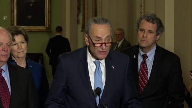 New York Senator Charles Schumer tells reporters Hours before the 2018 State of the Union that the Trump administration invited a Russian...