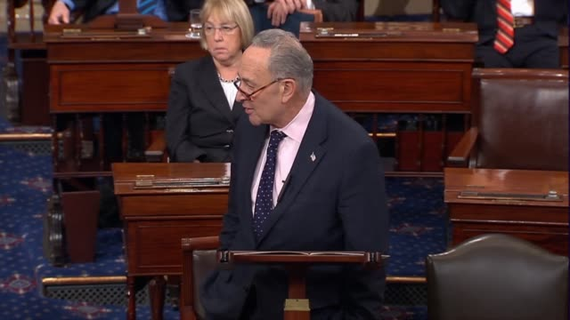 New York Senator Chuck Schumer closes debate on the Tax Cuts and Jobs Act offering that in a short time Republicans would have the choice whether or...