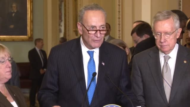 New York Senator Chuck Schumer lays out the three report priorities of congressional democrats the head of negotiations on fiscal 2016 appropriations...