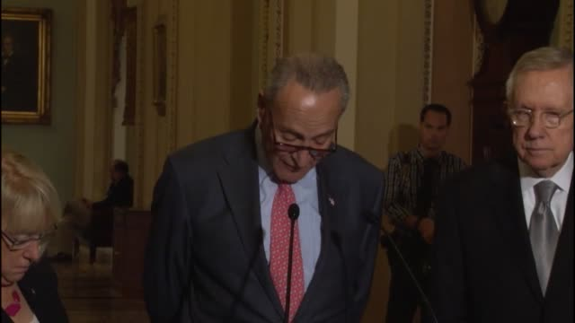 new york senator chuck schumer refers to speech of likely successor to house speaker john boehner about restoring prior budget levels for the... - department of defense stock videos and b-roll footage