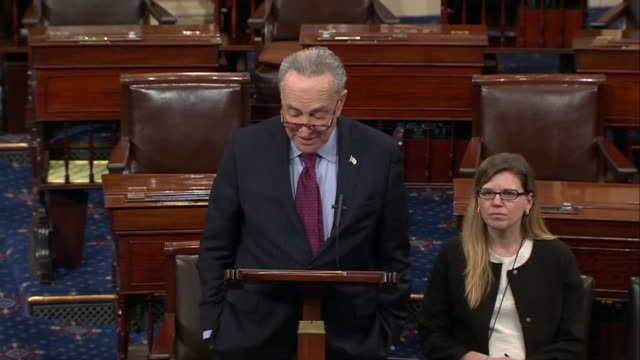 New York Senator Chuck Schumer says a deal produced by the socalled Gang of Six goes right down the middle dealing with issues President Donald Trump...