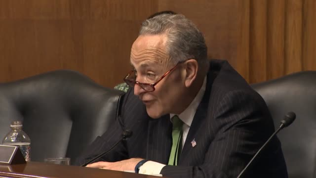 new york senator chuck schumer says at a hearing of the senate judiciary hearing about amending the constitution to require a balanced budget that... - court hearing stock videos & royalty-free footage