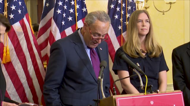 New York Senator Chuck Schumer says at a news event of Supreme Court nominee Brett Kavanaugh that his time as staff secretary was his most senior for...