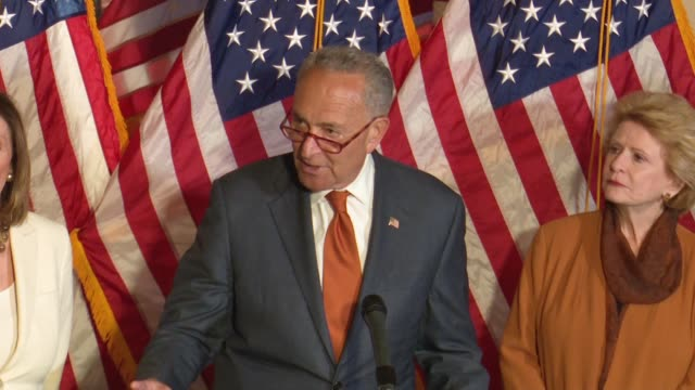 New York Senator Chuck Schumer says at a press conference focused on background check legislation after mass shootings a month earlier in Dayton and...
