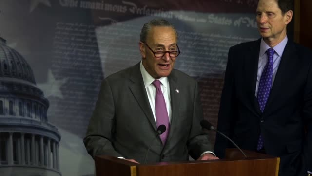 new york senator chuck schumer says health insurance companies would begin to request very large rate increases, beginning with huge rate increases... - sabotage stock videos & royalty-free footage