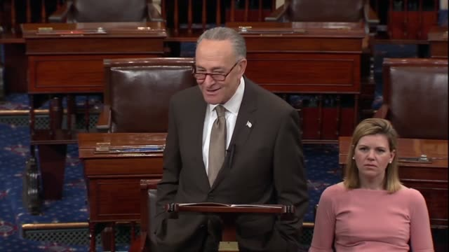 stockvideo's en b-roll-footage met new york senator chuck schumer says hours before president donald trump announced new tariffs against china over intellectual property theft that ip... - intellectueel eigendom
