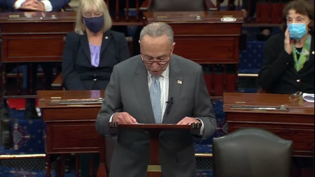 new york senator chuck schumer says in remarks before cloture motion was filed to limit floor debate on the supreme court nomination of seventh... - information equipment stock videos & royalty-free footage
