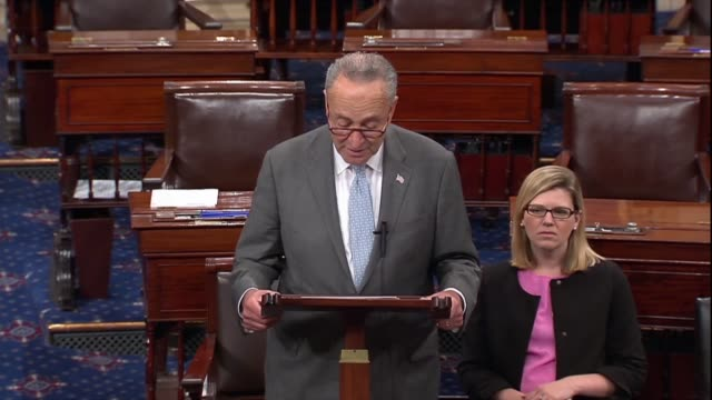 stockvideo's en b-roll-footage met new york senator chuck schumer says the bottom line was republican lawyers overseeing the production of documents full review in the supreme court... - national archives washington dc