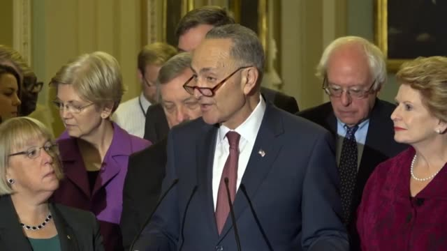new york senator chuck schumer takes questions from the press after being elected the minority leader of the senate for the 115thh congress asked... - things that go together stock videos & royalty-free footage