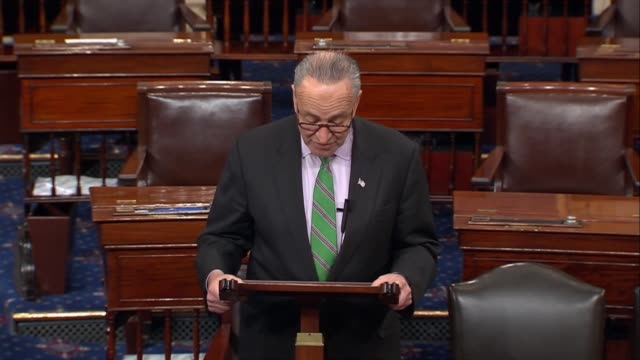New York Senator Chuck Schumer takes the Senate floor to discuss his concerns with how White House Chief Strategist Steven Bannon was given broad...