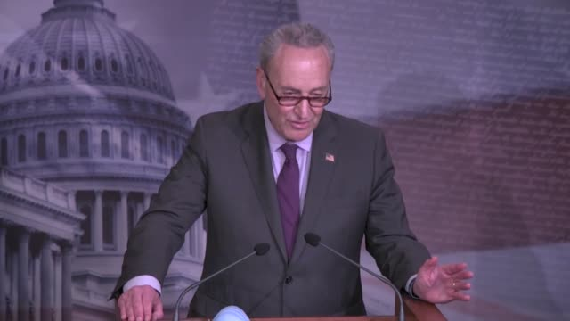 new york senator chuck schumer tells reporters after the senate intelligence committee reported out texas congressman john ratcliffe's nomination to... - partisan politics stock videos & royalty-free footage