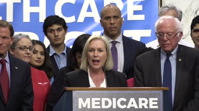new york senator kirsten gillibrand tells media and supporters of universal health care coverage that democracy only works when regular people stand... - expense stock videos & royalty-free footage