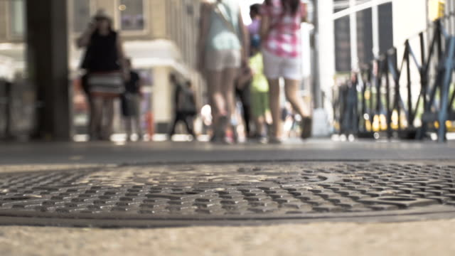 New York sewer cap urban landscape - summer 2016