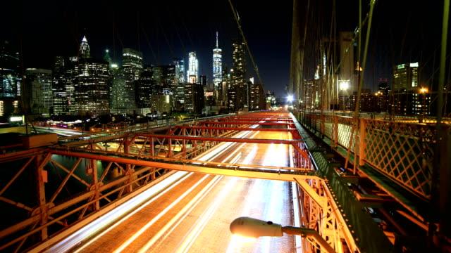 new york skyline: brooklyn bridge - williamsburg bridge stock videos and b-roll footage