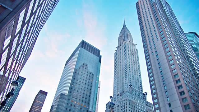new york skyline. empire state building - empire state building stock videos & royalty-free footage