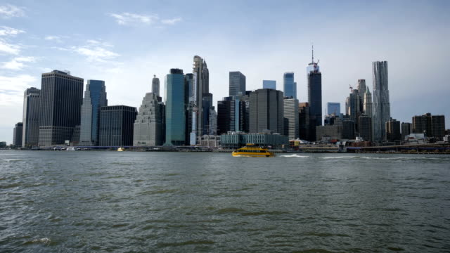 new york skyline from the brooklyn park - waterfront stock videos & royalty-free footage