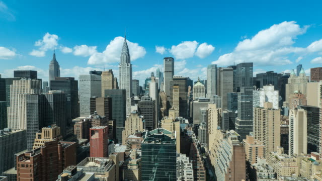 new york skyline time lapse. - chrysler building stock videos & royalty-free footage