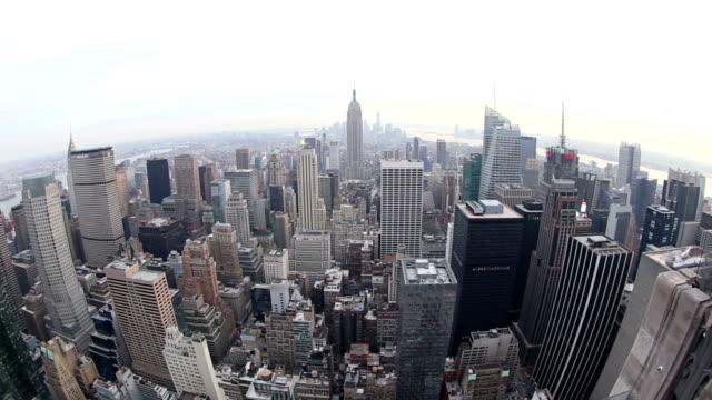 hd vdo: skyline von new york. - weitwinkel stock-videos und b-roll-filmmaterial