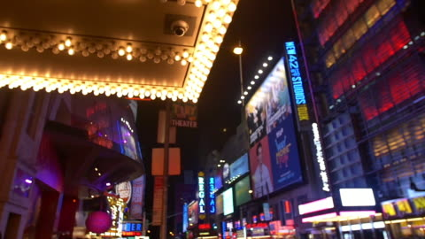 new york slowmotion broadway - theatre banner commercial sign stock videos & royalty-free footage