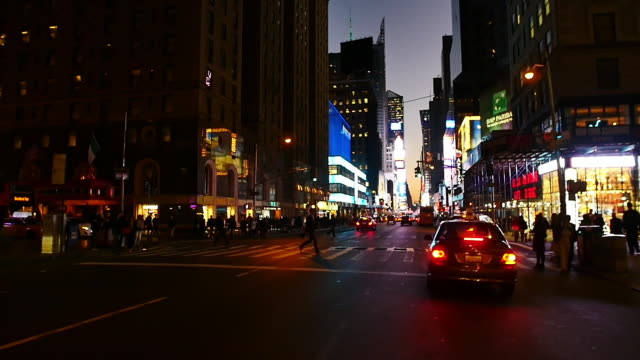 new york slowmotion streetlife - car point of view stock videos and b-roll footage