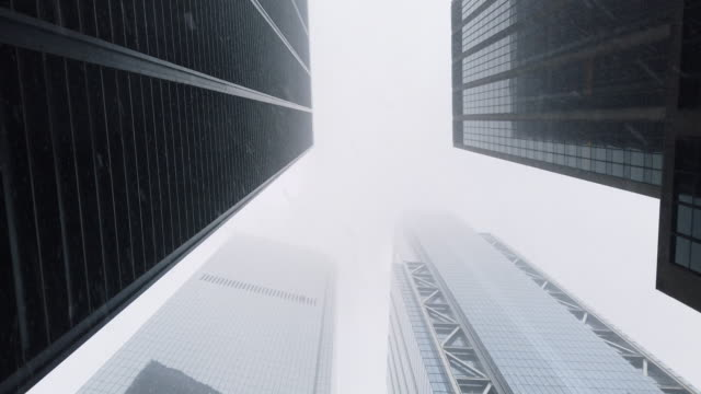 new york snow skyscrapers - high contrast stock videos & royalty-free footage