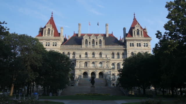 new york state capitol building - capitol building stock videos & royalty-free footage