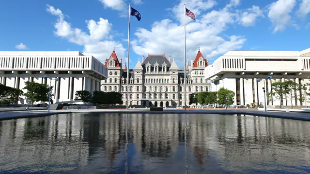 new york state capitol - federal building stock videos & royalty-free footage