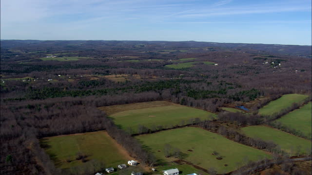 new york state landscape - aerial view - new york,  ulster county,  united states - ulster county stock videos & royalty-free footage