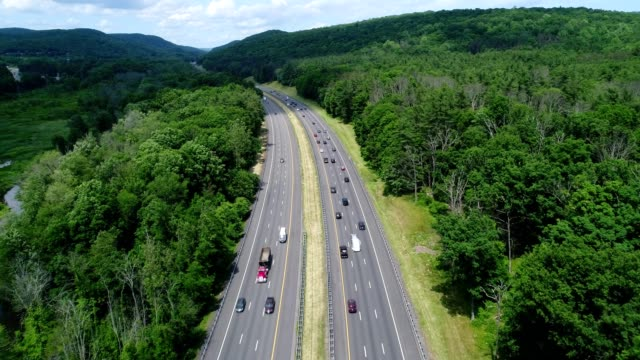 new york state thruway flying low going north - country road stock videos & royalty-free footage