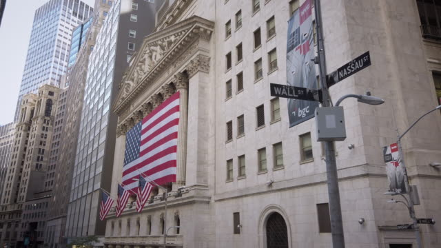 new york stock exchange (nyse) - national flag stock videos & royalty-free footage
