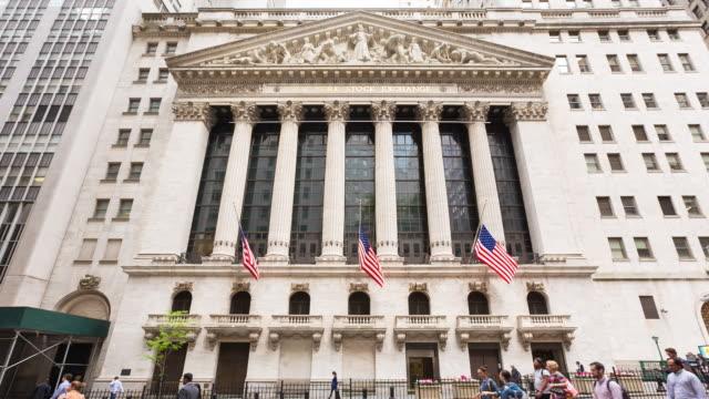 new york stock exchange - ニューヨーク証券取引所点の映像素材/bロール