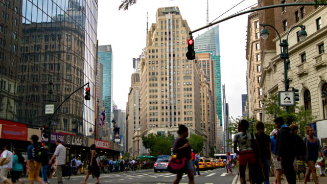 new york street, manhattan - circa 5th century stock videos & royalty-free footage