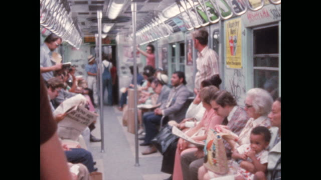 new york subway in the 1970s - graffiti stock videos & royalty-free footage