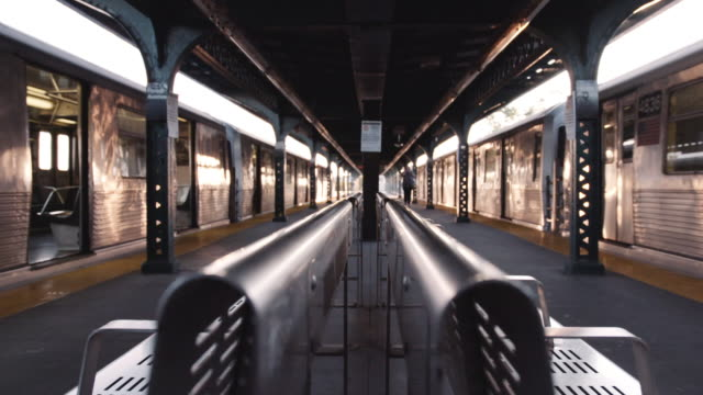 new york subway platform. - station stock videos & royalty-free footage