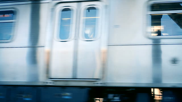 new york subway train speeding by in front of camera - moving past stock videos & royalty-free footage