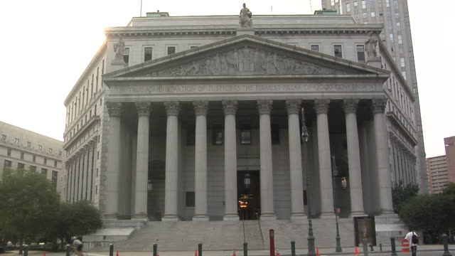 ms, new york supreme court, manhattan, new york city, new york, usa - palazzo di giustizia video stock e b–roll
